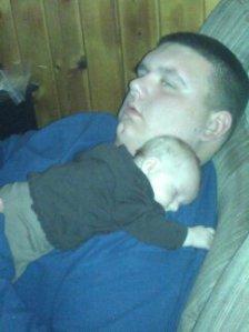 Thanksgiving 2012. Both my babies crashed