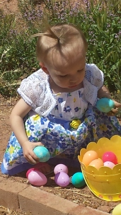 Molly's 2nd Easter just cause she's cute.