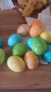 Last set of eggs Drew helped color