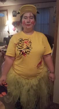Madi in her Halloween costume 2015