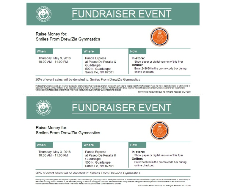 Panda Fundraiser Zia May 2018